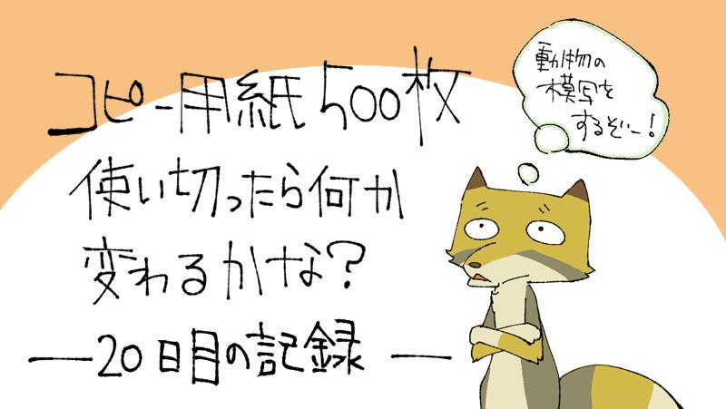 500枚チャレンジ記録 20日目